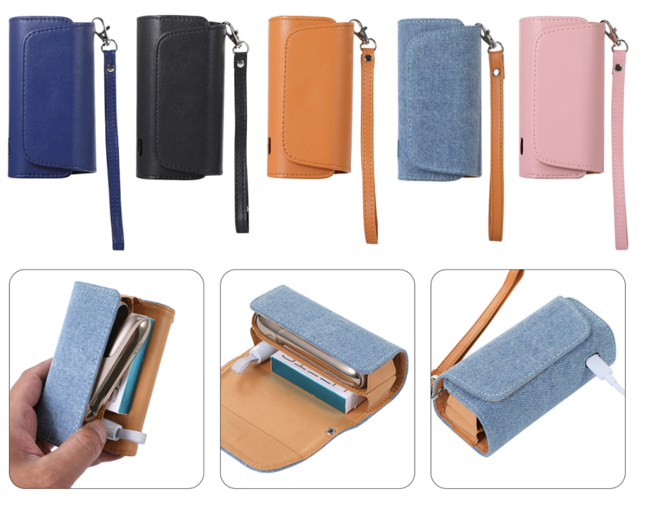 Flip cover book case or wallet case for IQOS