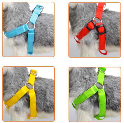 Rechargeable LED Nylon Type Flashing Light Pet Safety Collar