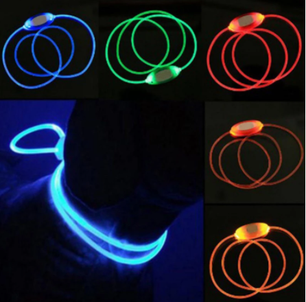 Adjustable Luminous Solid Color LED Collar