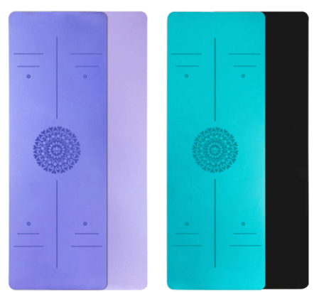 Non-slip TPE Yoga Mat with Position Line