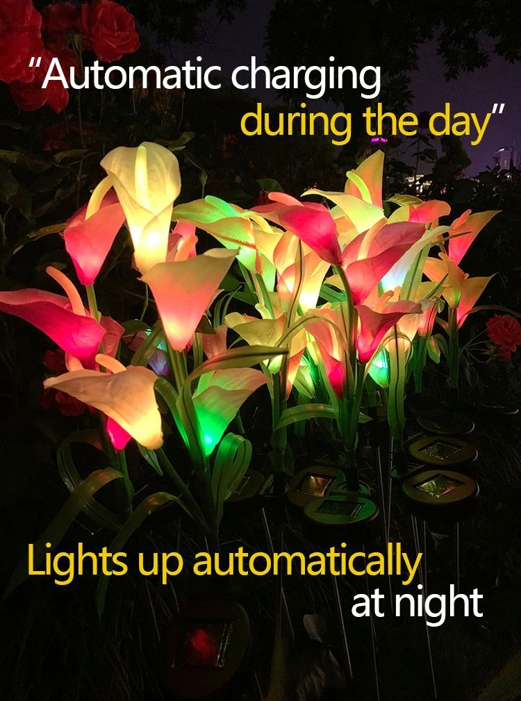 Solar Calla Flower Light
