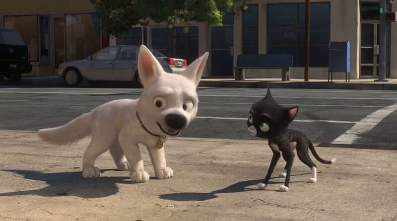 WHAT KIND OF DOG IS THE DISNEY SUPERHERO BOLT?