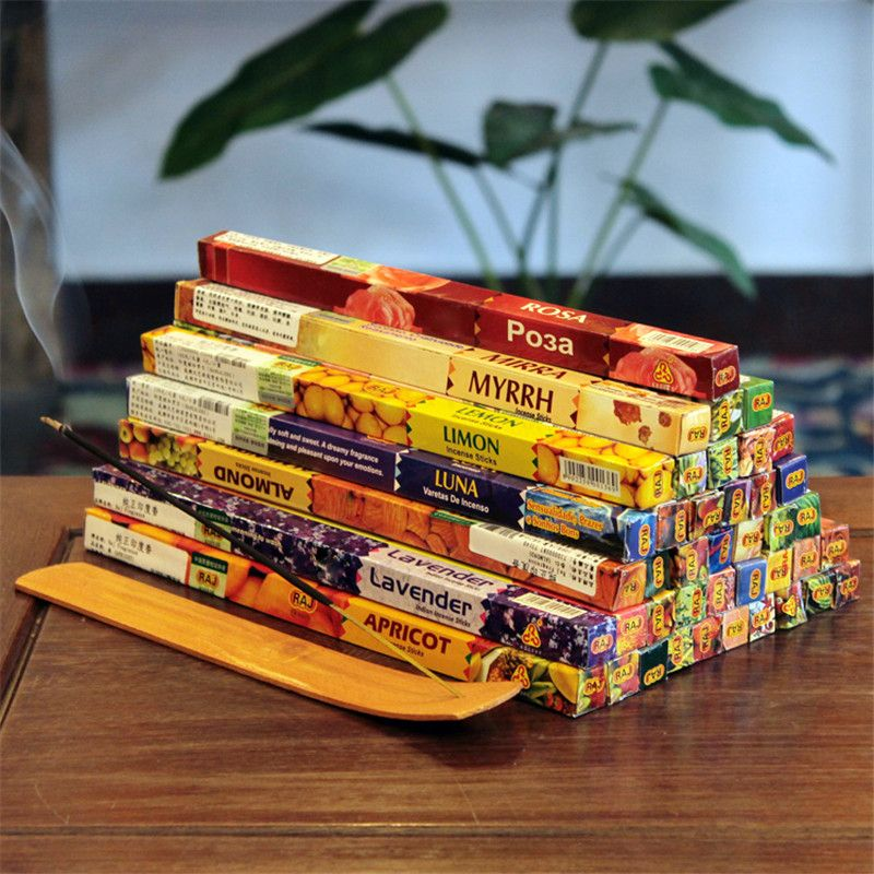 Indian incense sticks with various scents