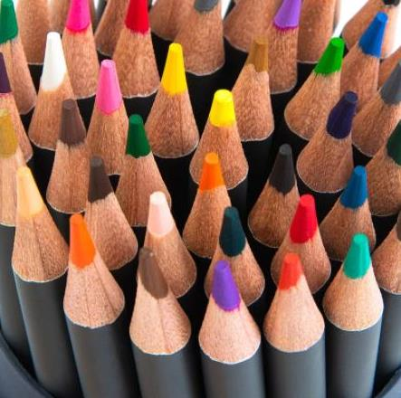 Colored watercolor pencils for drawing